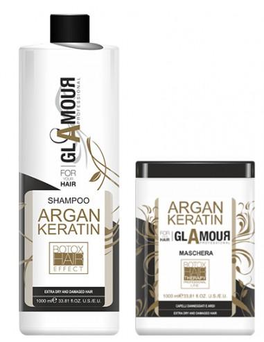 GLAMOUR rinkinys su arganu ir keratinu (2*1000ml)
